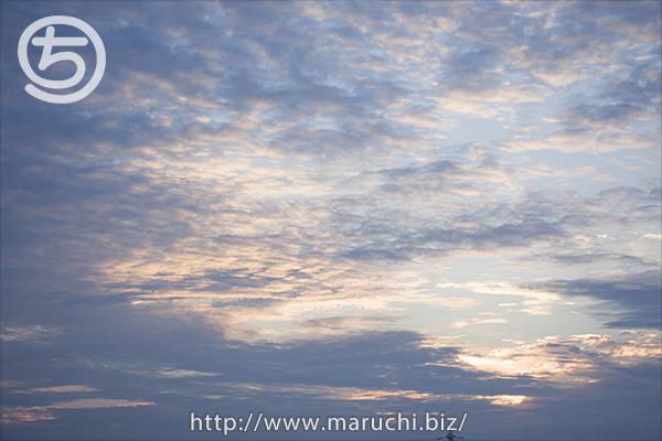 夕方の曇り空2015年八月