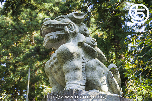 長岡市悠久山公園2018年十月蒼柴神社の狛犬